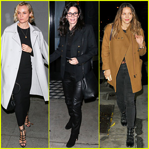 Diane Kruger, Courteney Cox, & Katharine McPhee Dine at Craig's on Restaurant's Sixth Anniversary!