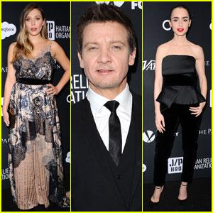 Elizabeth Olsen & Jeremy Renner Step Out For Sean Penn's Star-Studded Haiti Rising Gala 2017