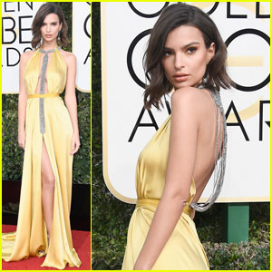 Emily Ratajkowski is a Golden Goddess at Golden Globes 2017
