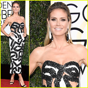Heidi Klum Goes Glam for Golden Globes 2017