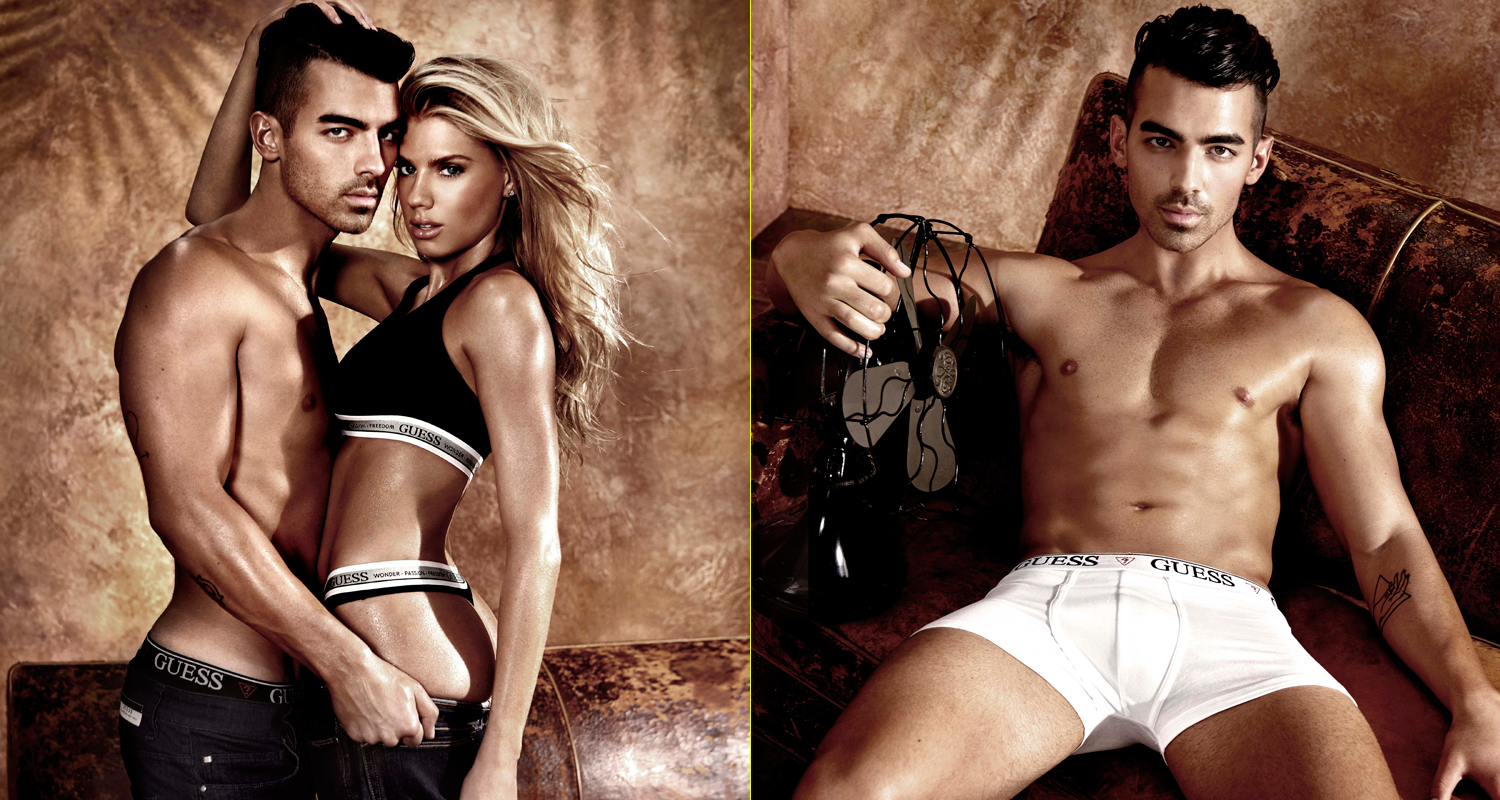 Joe Jonas & Charlotte McKinney Star in Sexy 'Guess ...