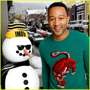 John Legend Poses With a Snowman During Sundance Women's March