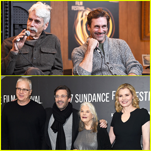 Jon Hamm Praises Sam Elliott After Reuniting At Sundance!