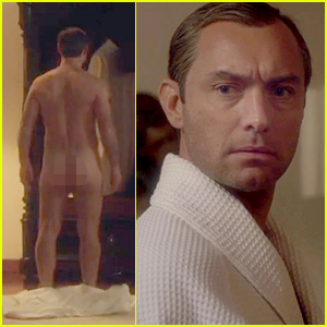 Jude Law Bares His Butt as