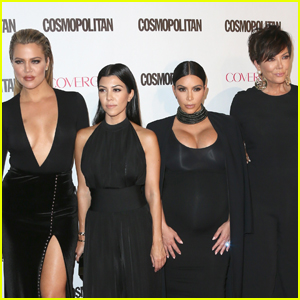 Kardashian Sisters Wish Kris Jenner Good Luck on the Golden Globes Red Carpet