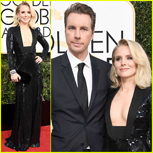 Kristen Bell & Dax Shepard Arrive in Style for Golden Globes 2017