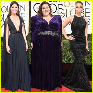 Mandy Moore & Chrissy Metz Rep 'This Is Us' at Golden Globes 2017 With Susan Kelechi Watson