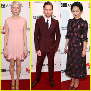 Michelle Williams, Tom Hiddleston, & Ruth Negga Bring Their Style to BAFTA Tea Party