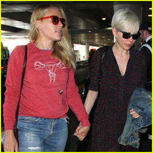 Michelle Williams & Busy Phillips Jet Out of LA After SAG Awards