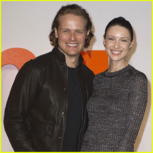 Outlander's Sam Heughan & Caitriona Balfe Attend 'Trainspotting 2' Premiere In Scotland