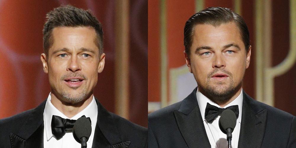 Brad Pitt & Leonardo DiCaprio Are Hot Presenters at Golden Globes 2017!   2017 Golden Globes, Brad Pitt, Golden Globes, Leonardo DiCaprio : Just Jared