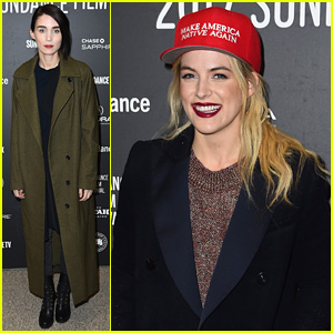 Riley Keough Makes a Political Statement at Sundance Premiere
