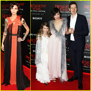 Ruby Rose Joins Milla Jovovich & Family At 'Resident Evil' L.A. Premiere!