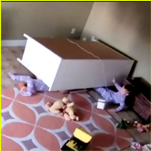 VIDEO: Nanny Cam Captures Young Boy Saving His Twin After Scary Furniture Accident