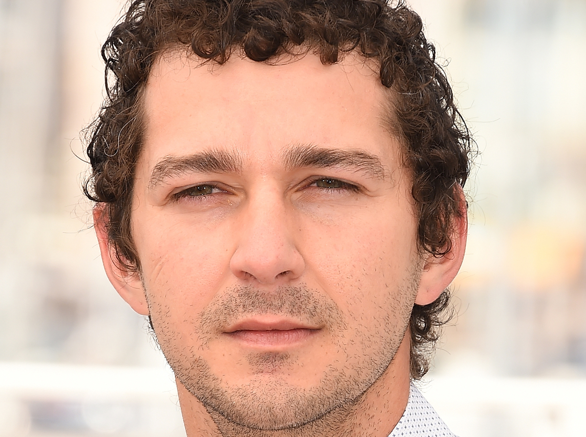 Shia LaBeouf Returns to 'He Will Not Divide Us' Site After ... Shia Labeouf