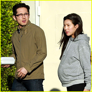Walking Dead's Steven Yeun Steps Out with Pregnant Wife Joana!