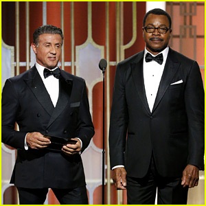 Rocky's Sylvester Stallone & Carl Weathers Reunite to Present Final Award at Golden Globes 2017!