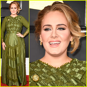 Adele Dons Green Givenchy Couture for Grammys 2017 Red Carpet!