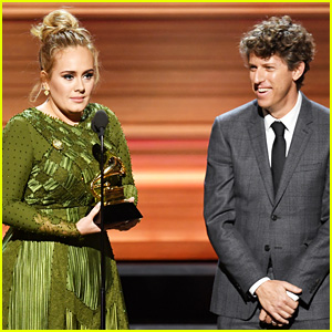 Adele Wins Grammys' Song of the Year, Co-Writer Gets Cut Off & Crowd Boos
