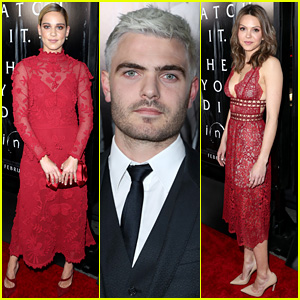 Alex Roe Debuts New Silver Hair at 'Rings' Premiere!