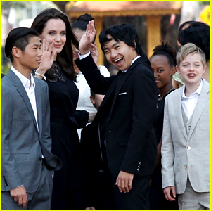 Angelina Jolie's Six Kids Support Her at Movie Premiere in Cambodia!
