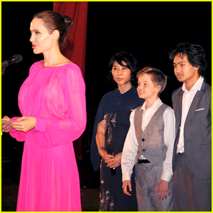 Angelina Jolie's Kids Beam
