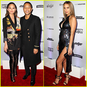 Chrissy Teigen & Pregnant Hannah Jeter Join Past 'Sports Illustrated Swimsuit' Cover Models at Launch Party!