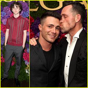 Colton Haynes & Boyfriend Jeff Leatham Make Public Debut at Bulgari's Oscars Party!