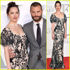 Dakota Johnson & Jamie Dornan Pair Up For 'Fifty Shades Darker' Premiere in London