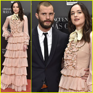 Dakota Johnson & Jamie Dornan Bring 'Fifty Shades Darker' To Madrid