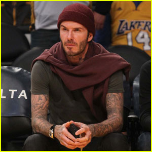 David Beckham is Smokin' Hot Sitting Courtside at Lakers Game