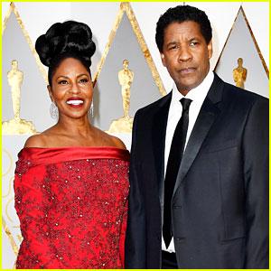 Denzel Washington Brings Wife Pauletta to Oscars 2017
