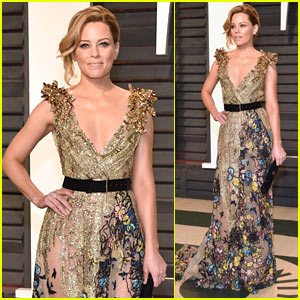 Elizabeth Banks Arrives Early for the Vanity Fair Oscars Party