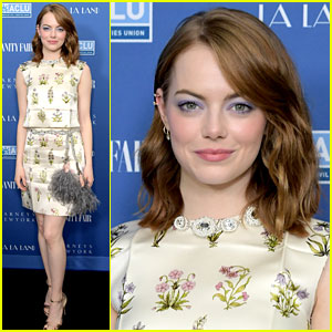 Emma Stone Celebrates 'La La Land' at Private Dinner in Los Angeles