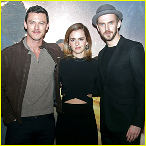 Emma Watson Joins Her Leading Men at 'Beauty & The Beast' London Photo Call