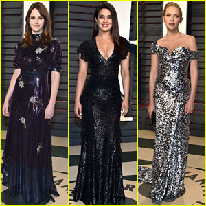Felicity Jones, Priyanka Chopra, & Teresa Palmer Switch Up Looks for Vanity Fair Oscars Party 2017!
