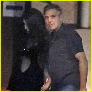 George & Amal Clooney Enjoy a Dinner Date in Barcelona