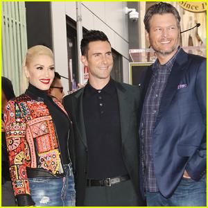 Gwen Stefani & Blake Shelton Support Adam Levine at Hollywood Walk of Fame Ceremony