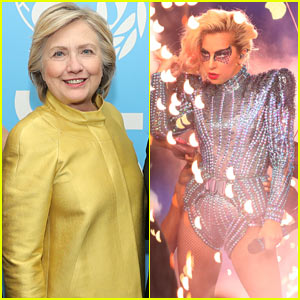 Hillary Clinton is 'Gaga' for Lady Gaga's Halftime Show!