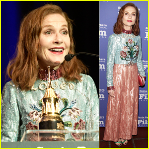Isabelle Huppert Continues Winning Streak At Santa Barbara Film Festival!