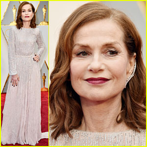 Nominee Isabelle Huppert Stuns in Armani on Oscars 2017 Red Carpet