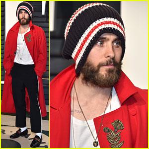 Jared Leto Wears Beanie to Vanity Fair's Oscar Party