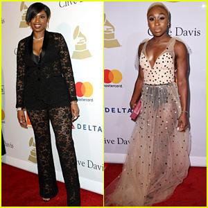 Jennifer Hudson & Cynthia Erivo Celebrate Grammy Nom at Clive Davis' Annual Gala!