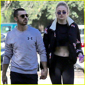 Joe Jonas Holds Hands with Sophie Turner on Valentine's Day!