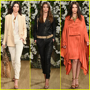 Kendall Jenner & Bella Hadid Rock Leopard Print for Ralph Lauren Fashion Show