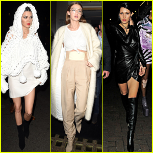 Kendall Jenner, Gigi Hadid, & Bella Hadid Step Out for Fashionable Night in London!