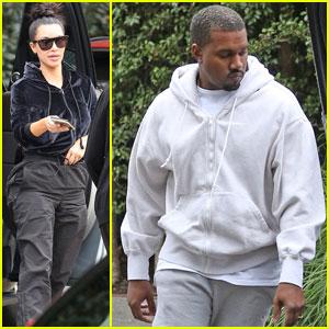 Kim Kardashian & Kanye West Head to a Super Bowl Bash