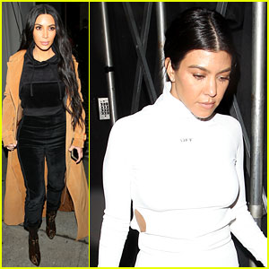 Kim & Kourtney Kardashian Grab Dinner at Craig's