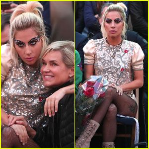 Lady Gaga Sits Front Row at Tommy Hilfiger Spring Show