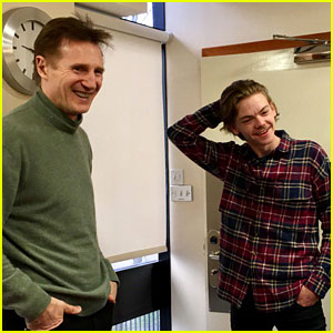 'Love Actually' Reunion Set Photos: Liam Neeson & Thomas Brodie-Sangster Reunite!